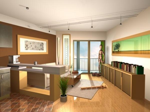 Vizualizace interiéru bytu v bytovém domě