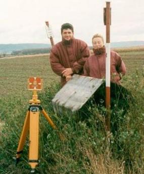 Foto: Geodetické práce - Ing. Lubomír Čech