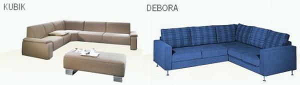 Obr: www.kanapa.sk, Kanapa Design - KUBIK a DEBORA