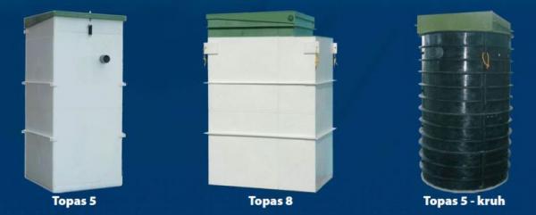 Zdroj: www.topolwater.com, nejprodávanější druhy domovních ČOV TOPAS