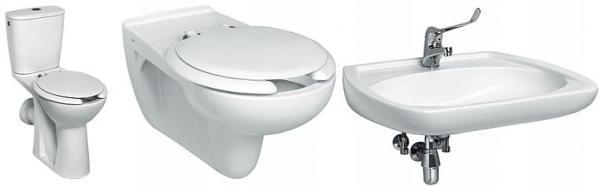 Zdroj: www.sanitec.cz, WC mísy a umyvadlo pro postižené