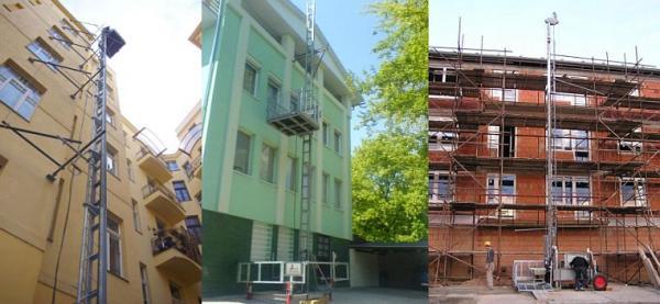 Foto: DE JONG LIFTEN, hřebenový stavební výtah