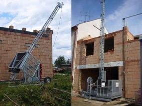 Foto: DE JONG LIFTEN, lanový stavební výtah