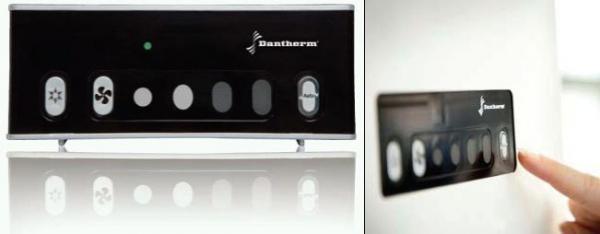 Ovládací panel obsahuje tři jednoduchá ovládací tlačítka
