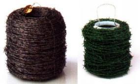 Obr: www.ferona.cz, ostnatý drát pozinkovaný a potažený PVC