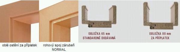 Zárubeň Normal pro polodrážkové dveře