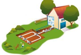 Ilustrační foto (www.shutterstock.com), schéma tepelného čerpadla země - voda