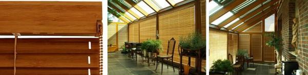 Foto: www.climax.cz, horizontální žaluzie z bambusu