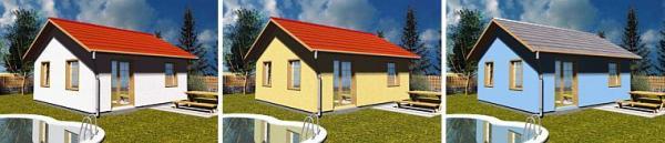 Obr: STAVO INVEST CB, barevné varianty domu BOSTON 100 SN