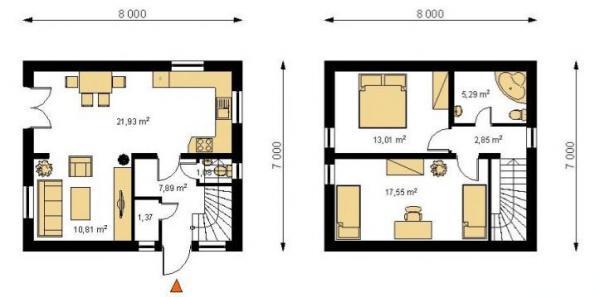 Obr: STAVO INVEST CB, půdorys domu BOSTON 200 S