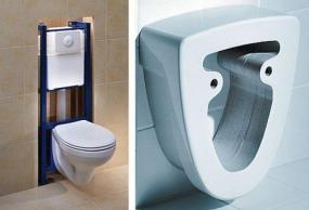 Foto: www.sanitec.cz, instalační modul a adaptér prodlužující záchodovou mísu