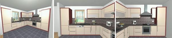 Obr: RD RÝMAŘOV, Nova 101 pasiv - vyrianta interiéru kuchyně