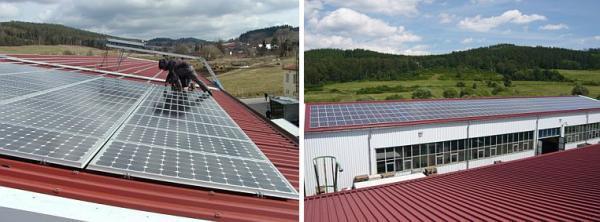 Foto: SOLARENVI, sluneční elektrárna na průmyslovém objektu