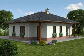 Obr: Ekonomické stavby, vizualizace domu Katka