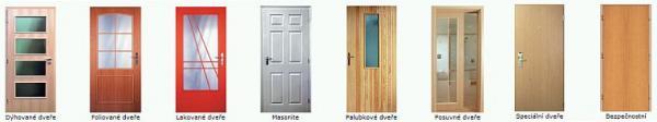 Foto: www.solodoor.cz, vybrané typy dveří