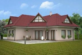 Obr: Ekonomické stavby, vizualizace rodinného domu Ferdinand