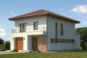 Obr: Ekonomické stavby, vizualizace rodinného domu Galileo