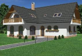Obr: Ekonomické stavby, vizualizace rodinného domu Laura