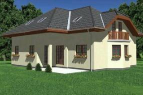 Obr: Ekonomické stavby, vizualizace rodinného domu Leonard