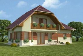 Obr: Ekonomické stavby, vizualizace rodinného domu Petr