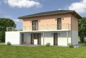 Obr: Ekonomické stavby, vizualizace rodinného domu