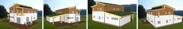 Obr: RD RÝMAŘOV, dům Kubis Lumio - vizualizace