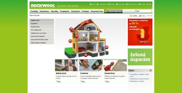 Obr: ROCKWOOL, náhled na design nového portálu
