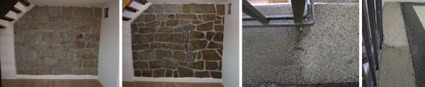 Foto: Fortel CB, čištění kamene (srovnání před a po čištění)