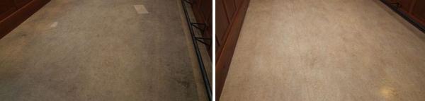Foto: Fortel CB, marmoleum před a po čištění