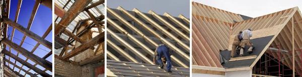 Foto: www.shutterstock.com, starý a nový krov