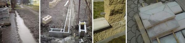 Foto: ČESKÉSTAVBY.cz, betonový plot je pouze z betonu (spára, ztracené bednění, tvárnice)