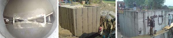 Foto: PELDA, parshalův žlab, hydroizolace ČOV a speciální betonáž monolitické stěny
