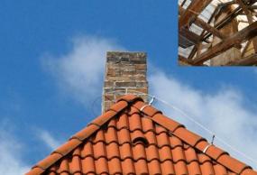 Ilustrační foto (www.shutterstock.com), starý jednovrstvý komín