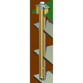 Obr: INTERMAT, schéma komínu KOMSYKO