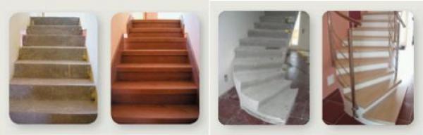 Foto: www.topstep.cz, pokládka na beton, před a po aplikaci