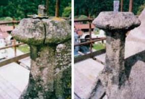 Foto: Remmers, vrcholová kytka průčelí kostela Nanebevzetí Panny Marie - před a po realizaci