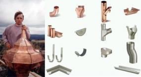 Obr: POKRÝVAČSTVÍ – KLEMPÍŘSTVÍ MÁDL, měděná střecha a komponenty okapového systému