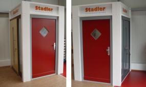 Foto: STADLER, instalace dveří v prostorách vzorkové prodejny ČEČETKA INTERIER