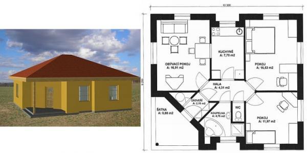 Obr: STAVEX CB, typový dům Beta