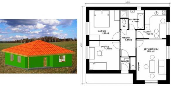 Obr: STAVEX CB, typový dům Gama