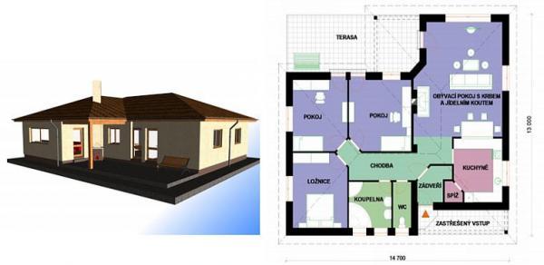 Obr: STAVEX CB, typový dům Omega