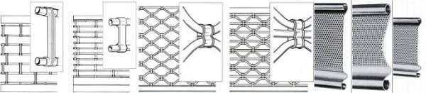 Foto: Mont-lock, typy mříží - vzory Gala, Luxon a Microforata