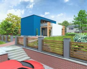 Obr: Atelier NÁŠ DŮM, 3D vizualizace domu Nero 2009
