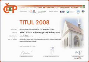 Obr: Atelier NÁŠ DŮM, ocenění domu Nero 2009