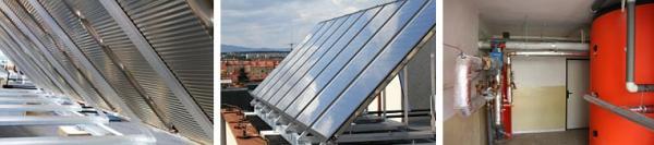 Foto: ZITO, solární panely a zásobník na teplou vodu