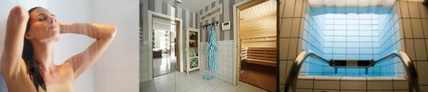 Ilustrační foto (www.shutterstock.com), sprchování před vstupem, sauna a bazének s ledovou vodou