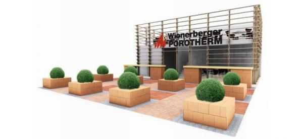 Obr: Wienerberger, expozice společnosti na výstavě FOR ARCH nelze přehlédnout