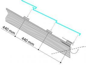 Obr: Lindab, vzdálenosti latí