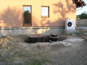 Foto: RD Rýmařov, domovní ČOV umístěná v zemi