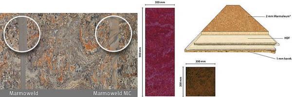 Foto: Lerch podlahy, spojování Marmolea - svařování a plovoucí podlaha